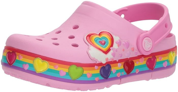 crocs rose Crocband Fun Lab Lights Clog Kids