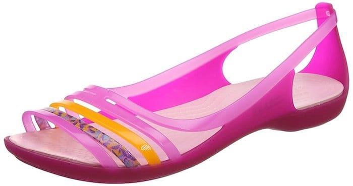 crocs rose femme Isabella Huarache Flat