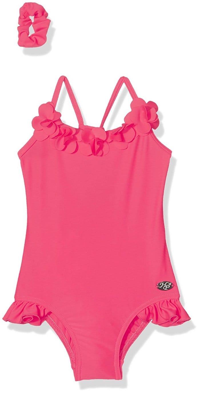 maillot de bain rose haute pression fille